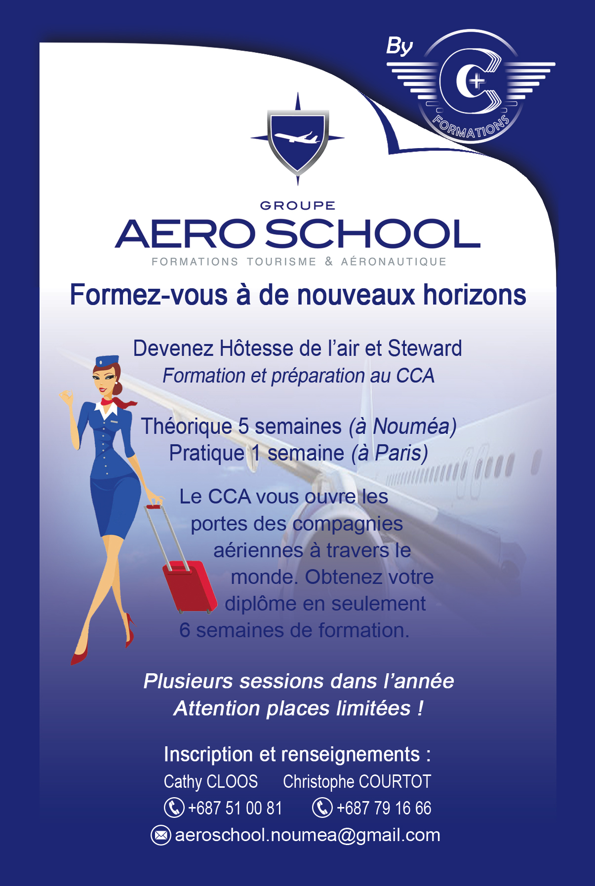 CRÉATION GRAPHIQUE - Flyer C+ FORMATIONS - Pacific Consulting